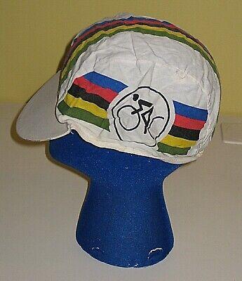 VINTAGE 80s 90s ZARA RAINBOW CYCLING COTTON HAT CAP WOMEN'S MENS ONE SIZE