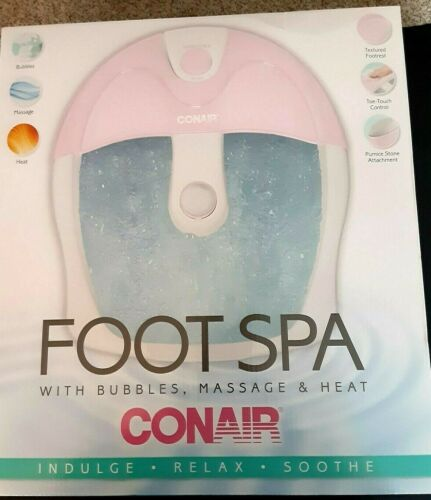 NEW SEALED CONAIR PINK FOOT SPA..SOOTHING MASSAGE,HEAT, TOE TOUCH CONTROL++