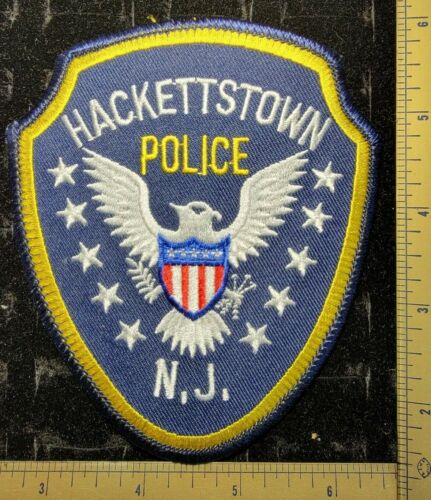 Hackettstown New Jersey NJ Police Department Officer Patch