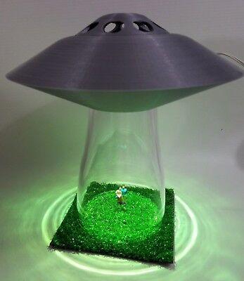 Customized UFO Desk Lamp Alien Abduction Sci Fi Silver Spaceship Outer Space , gebruikt tweedehands  verschepen naar Netherlands