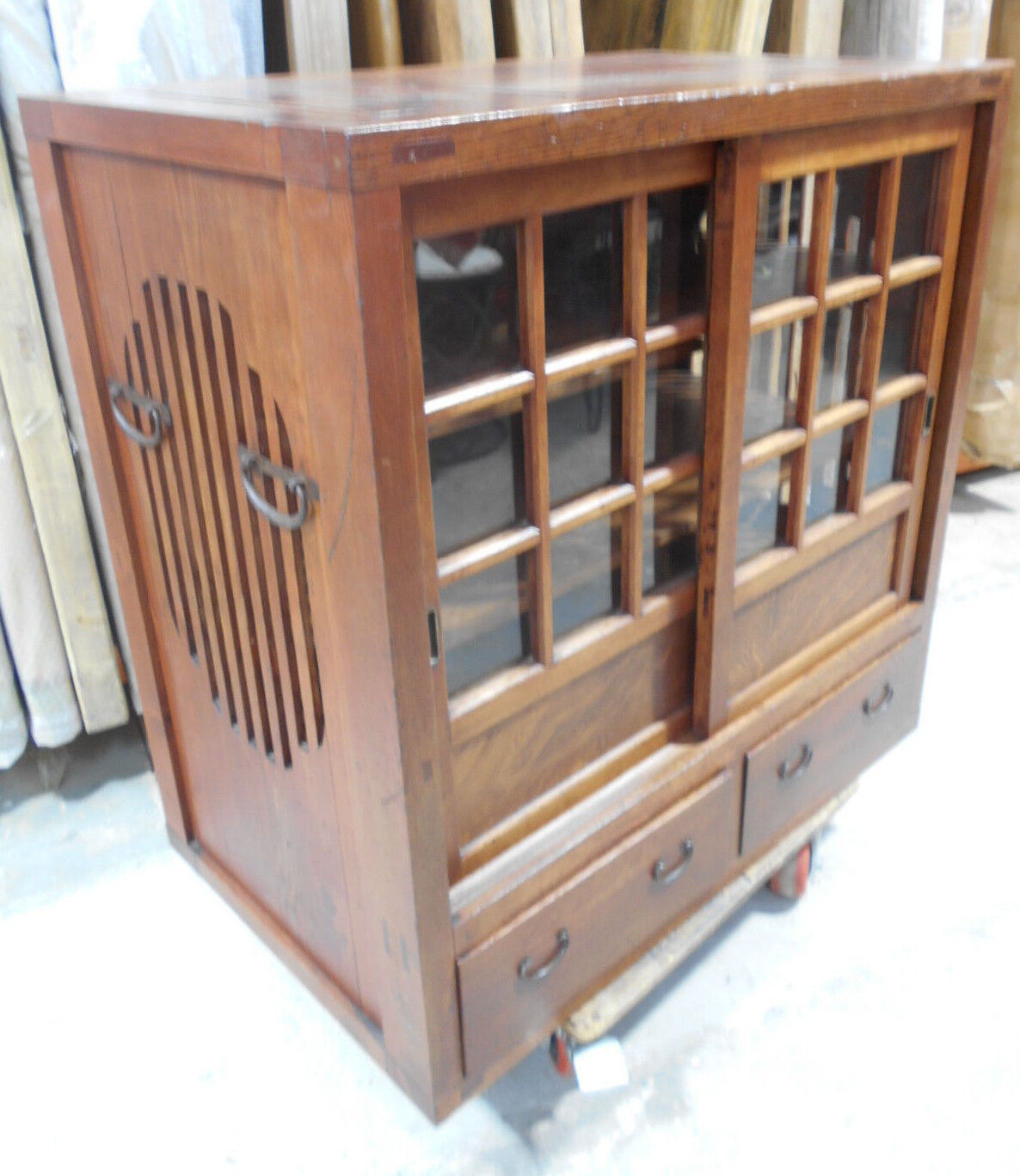 Antique Sugi and Hinoki Wood MIZUYA Kitchen Cabinet Circa1890s Japanese #104
