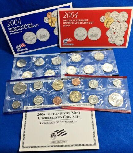 2004 U.S. Mint 22 Coin Uncirculated Set P + D *Mint Condition