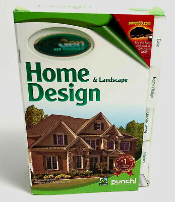 New Sealed NexGen Punch Home & Landscape Design 2 for PC--Works with Window 7