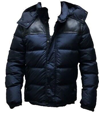Coach 83999 Men's Clarkson Down Puffer Jacket Convertible Coat Vest Navy Blue Convertible Puffer Jacket
