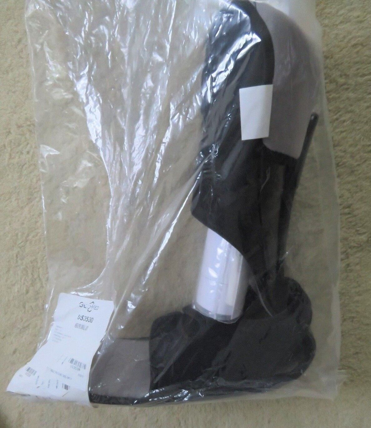 как выглядит HealPro Foot Ankle Brace Walking Boot GEO-MED US3530 US3531 Black Gray Color фото