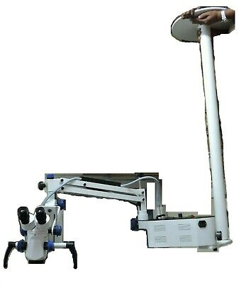 Five Step Ceiling Mount Surgical Operating Microscope Dental Use Manual Focusing