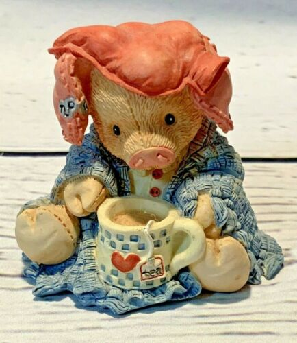 """This Little Piggy Figurine 1994 Enesco   """" This Little Piggy Stayed Home"""""""