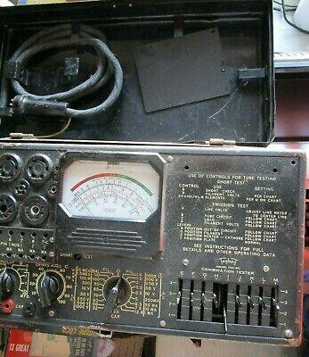 Triplett Us Army Signal Tube Combination Tester Field Unit Metal Case 1183-sc