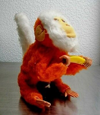 Vintage Wind-up Toy Jumping Monkey Japan 50's