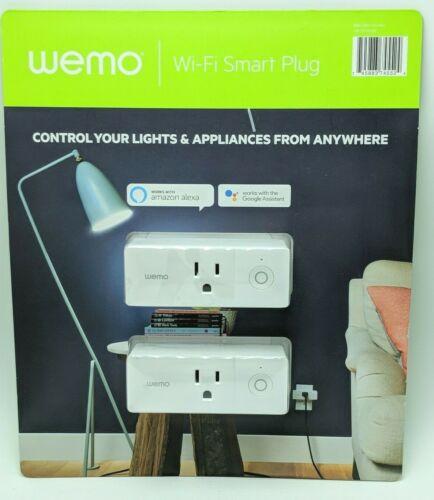Wemo Mini Wi-Fi Smart Plug 2-Pack Works with Alexa, Google Asst, Apple Homekit