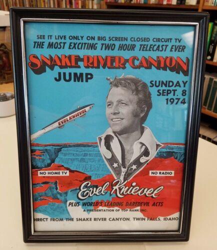Evel Knievel Snake River Canyon ORIGINAL Closed Circuit TV Ad Original Frame