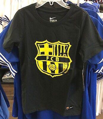 Team Barcelona FC Core Tee Shirt Soccer Blue Small Youth Boys Spanish - Core Boys Soccer Shirt