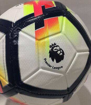 New Nike Premier League Strike Soccer Ball Wht/Multi Color / Size-5/SC3148 100 Premier League Soccer Ball