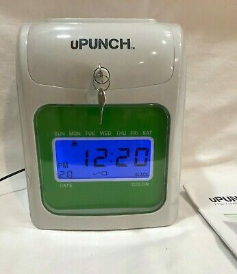 U-punch Time Clock Payroll Recorder Lcd Display Wcards Manual