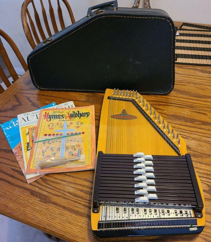 RBI Rhythm Band ChromAharP Autoharp 15 Chord 36 String w/ Case Instructions