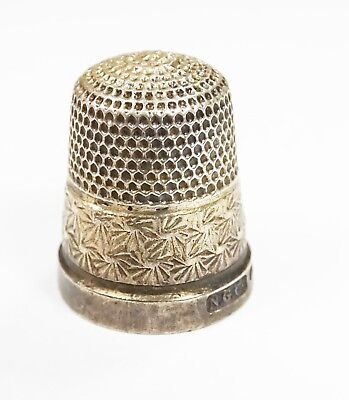 Antique sterling silver Northern Goldsmiths Company thimble size 13