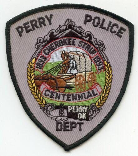 PERRY OKLAHOMA OK Cherokee Strip Centennial POLICE PATCH