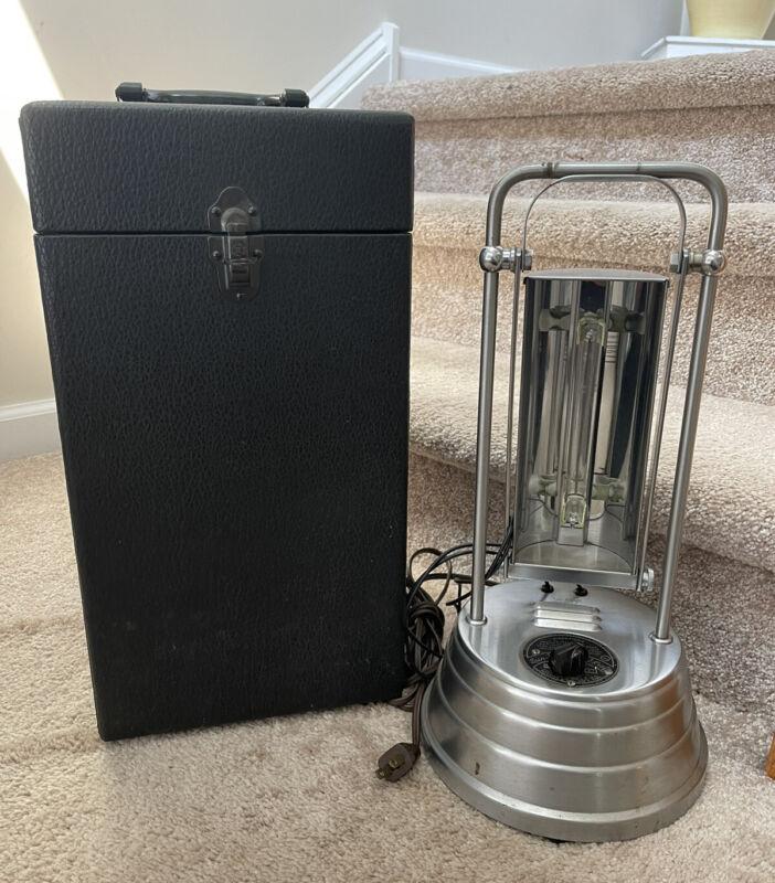 Steampunk Sun-Kraft Model A-1 Cold Quartz UV Ray Therapy Lamp w/ Case & Goggles