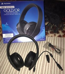 *NEW Edition* Gold Wireless PS4 Headset