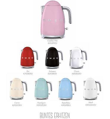 Smeg KLF03 Wasserkocher im 50er Jahre Retro Design hier in allen Farben wählbar