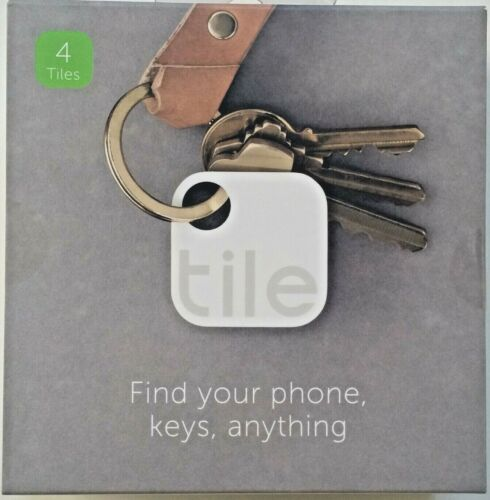 TILE GEN 2 Bluetooth Smart Tracker Phone/Key Finder -Wht(TLE-02001) 4 PACK!