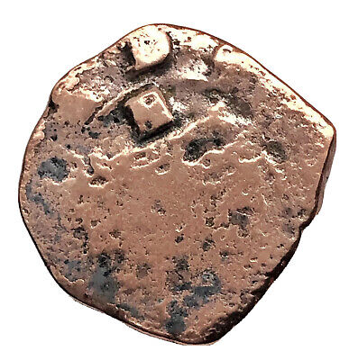 1600's Spanish Caribbean Pirate Coin Copper Artifact Authentic Shipwreck Old A6