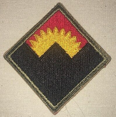 WWII U.S. A.A. Command Western Patch - Army   World War 2