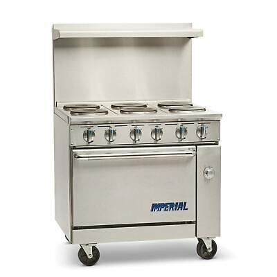 Imperial Range Ir-6-e 36 Electric 6 Burner Restaurant Range With Standard Oven
