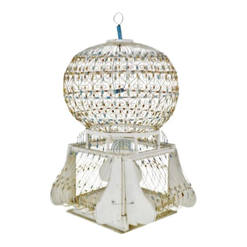 Antique French Victorian Dome Top Wire Bird Cage