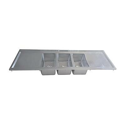 Bk Resources Three Compartment 70-18x20 Stainless Steel Drop-in Sink