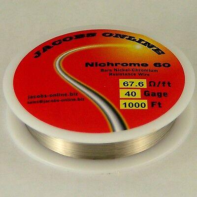 Nichrome 60 Resistance Wire 40 Awg Gauge 1000 Feet