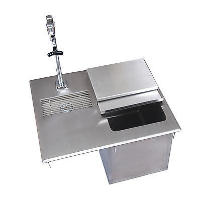 Bk Resources 21w Stainless Steel Drop-in Ice Bin With Water Station