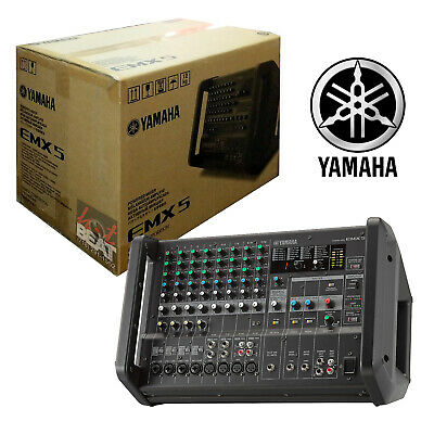 Yamaha EMX5 12-Channel Stereo Powered Mixer Integrated Built-in Amplifier 12 Channel Stereo Mixer