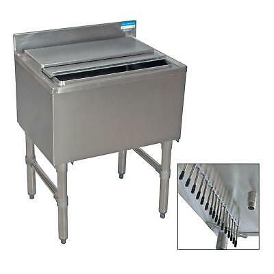 Bk Resources 30w Stainless Steel Underbar Insulated Ice Bin Wcold Plate
