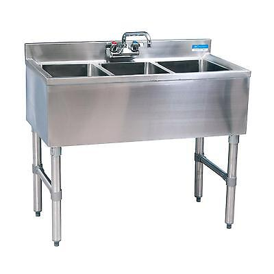 Bk Resources Bkubw-336s 36wx18-14d Stainless Steel Slimline Underbar Sink