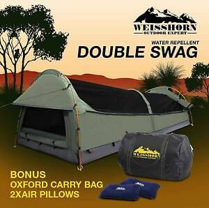Double Swag Camping Swags Canvas Tent Deluxe Aluminum Brisbane City Brisbane North West Preview