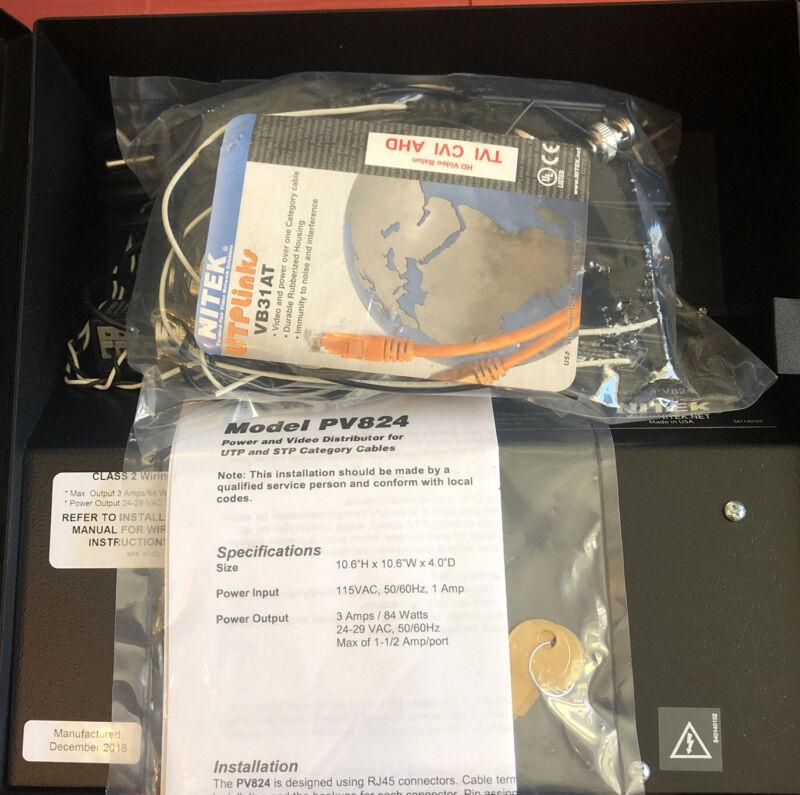 Nitek PV824 Power Supply for UTP and STP - NEW open box
