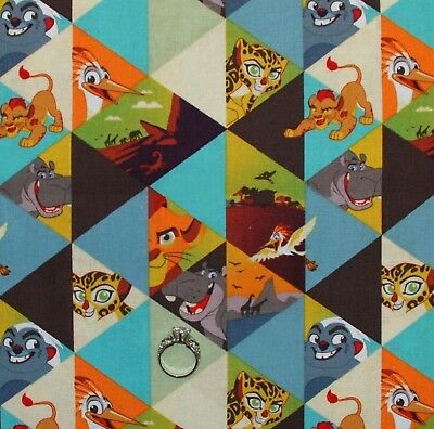 100/% Cotton Patchwork Fabric Springs Creative Disney Lion Guard Wild Adventures