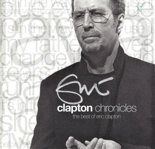 "Eric Clapton Hand Signed ""Chronicles, Best of"" CD Cream, Blind Faith"