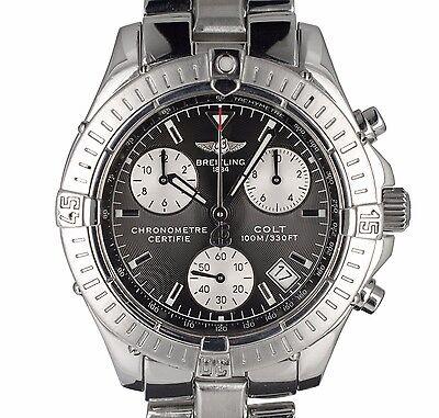 Breitling A73350 Colt Chronograph Black Dial Swiss Quartz Movement Watch