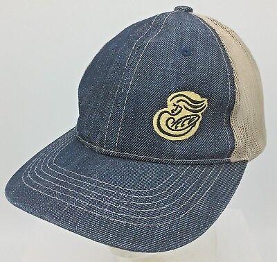 Panera Bread Embroidered Logo Adjustable Employee Uniform Denim Baseball Hat Cap