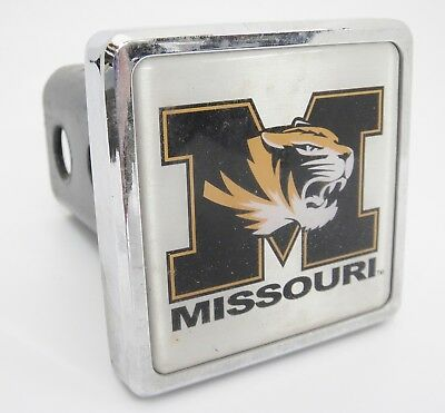 Missouri Tigers College Mascot Trailer Hitch Receiver Cover Chrome Fits Most 2""