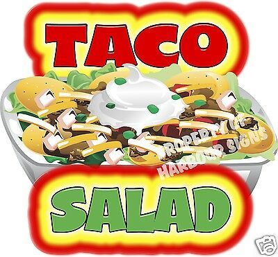 Taco Salad 14 Concession Restaurant Food Truck Van Vinyl Menu Sign Vinyl Decal