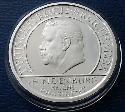 Handstop (5 Reichsmark 1929 ** Hindenburg - Schwurhand ** TOP ** RAR!)