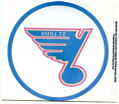 ST. LOUIS BLUES  HOCKEY TEAM  VINTAGE  1980'S STICKER / DECAL TEAM ISSUED MINT