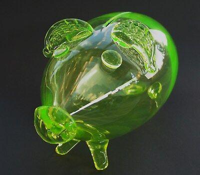 Annagelbes Uranglas, Vaseline glass, XXL  Spardose, Glassbank