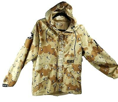 AAPE By A Bathing Ape BAPE Desert Camo Hooded Track Jacket Size L