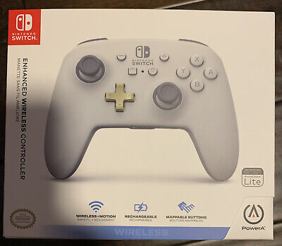 PowerA Enhanced Wireless Controller for Nintendo Switch, White