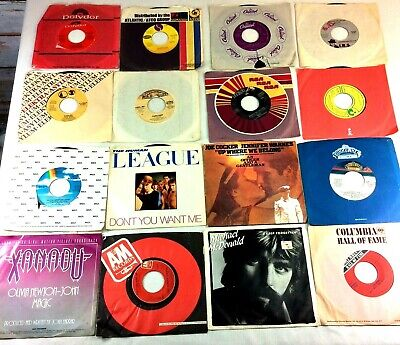 Lot of 37 1980s 45 RPM Records Duran Duran Journey Human League ABBA Clapton