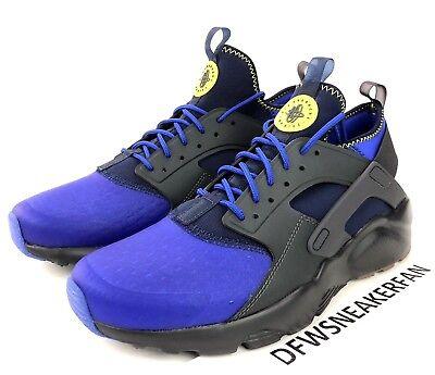 db17df53bc4e Nike Air Huarache Run Ultra SE Men s Size 13 Anthracite Para Blue  875841-001 New